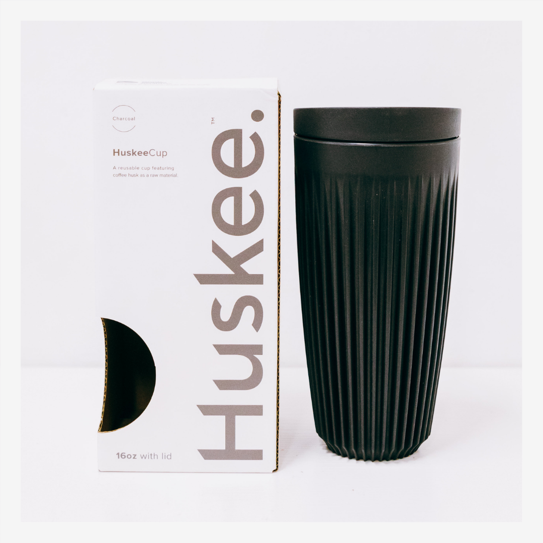 16oz Charcoal HuskeeCup with Lid - Individual