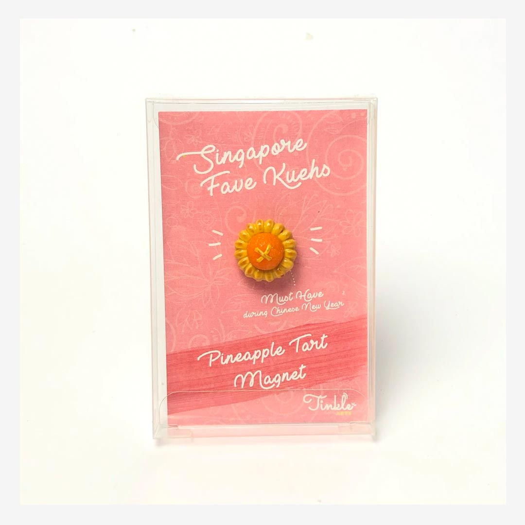 Tinkle Arts Handmade Magnets Pineapple Tart