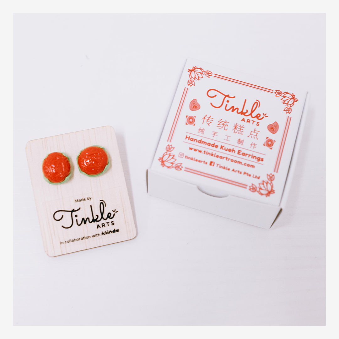 Tinkle Arts Handmade Earrings Ang Ku Kueh