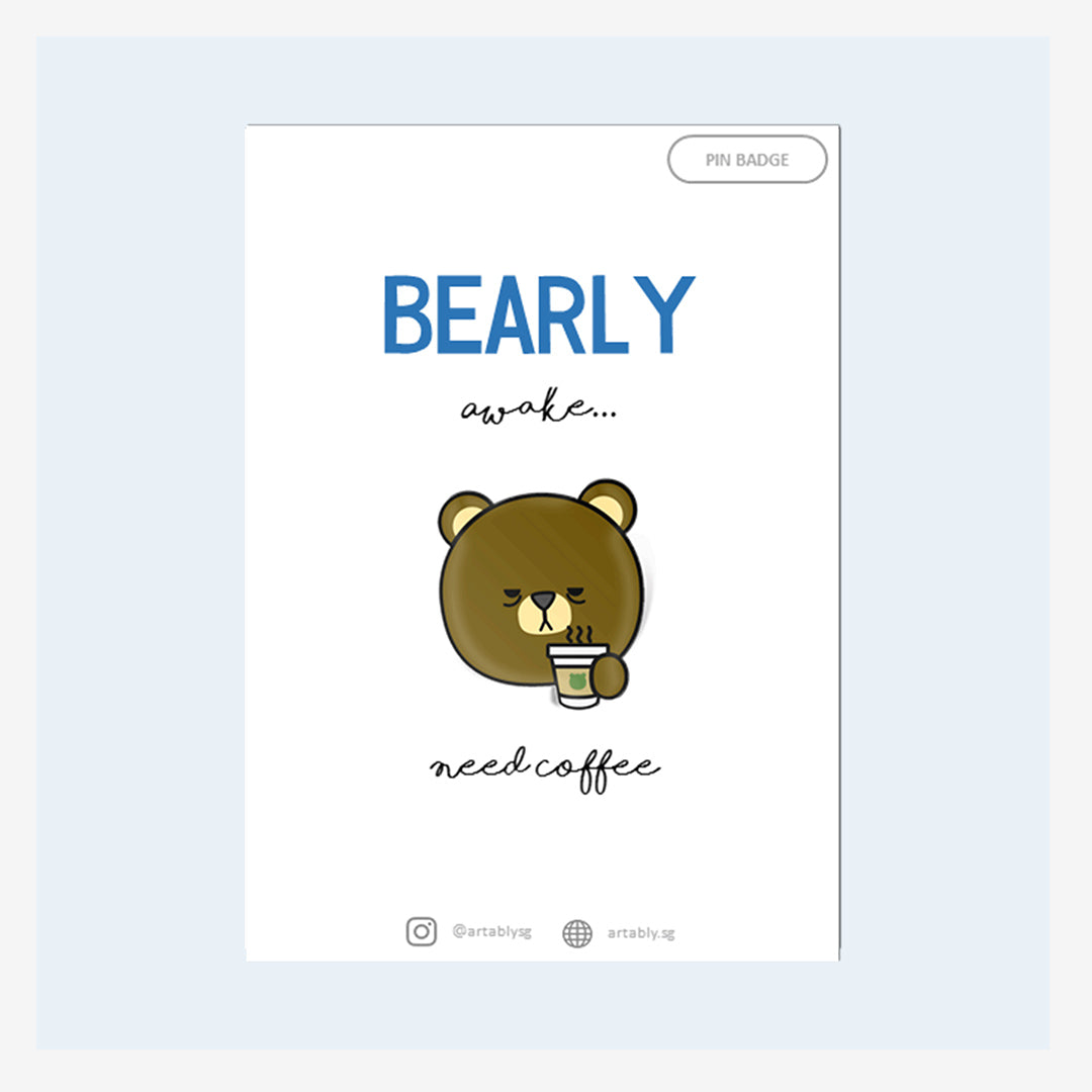 Artably Pin Badge Bearly