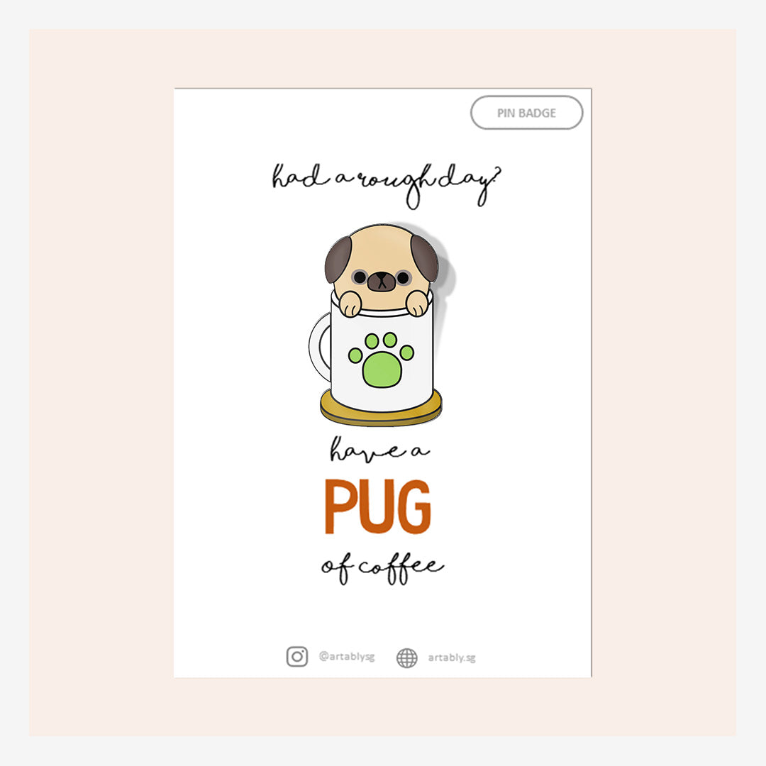 Artably Pin Badge Pug