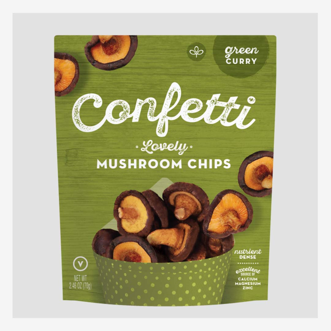 Confetti Lovely Mushroom Chips Green Curry