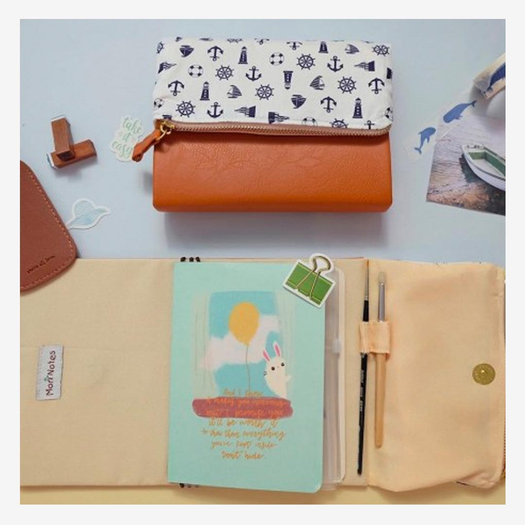 mori Pursebook Nautical