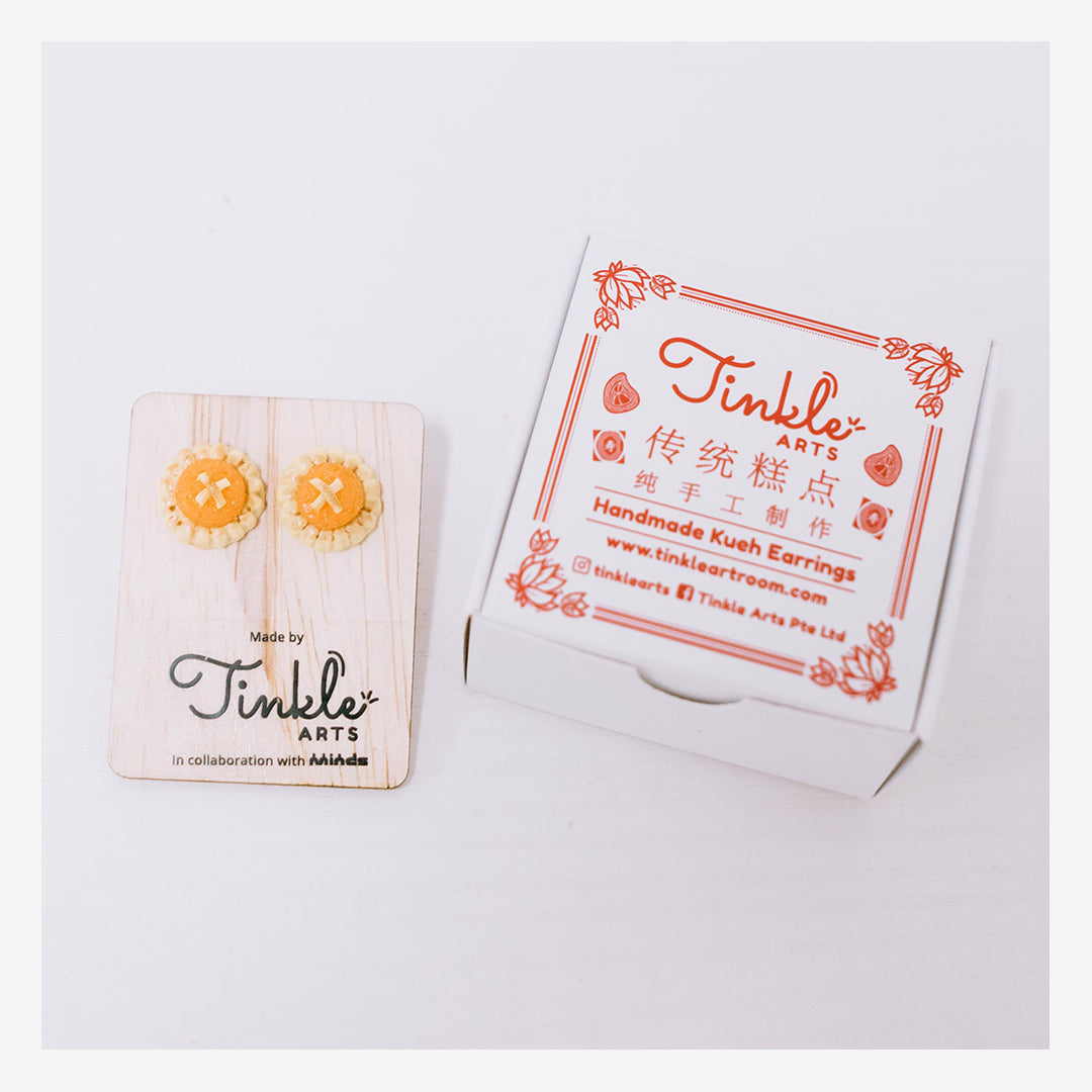 Tinkle Arts Handmade Earrings Pineapple Tarts