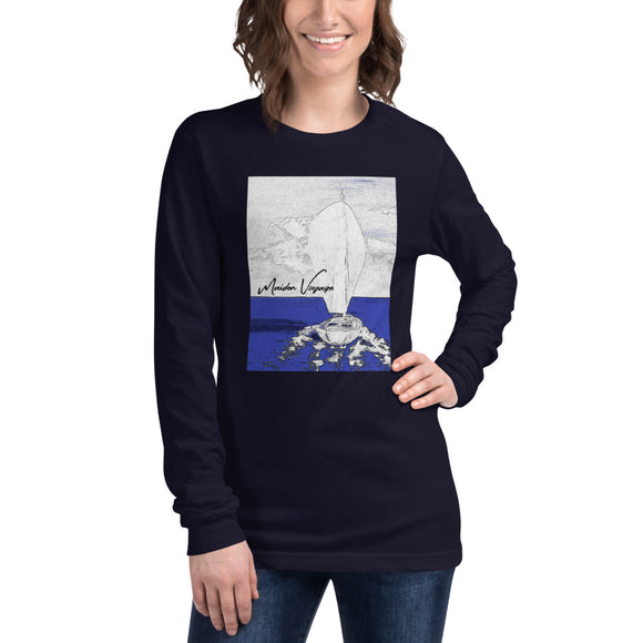 MAIDEN VOYAGE COVER ART - CHARCOAL RENDERING - Unisex Long Sleeve Tee