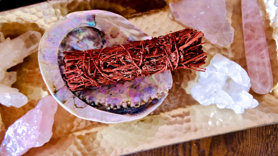 Dragon's Blood + Mountain Sage smudge Stick