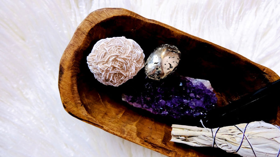Wooden Crystal Charging Bowl