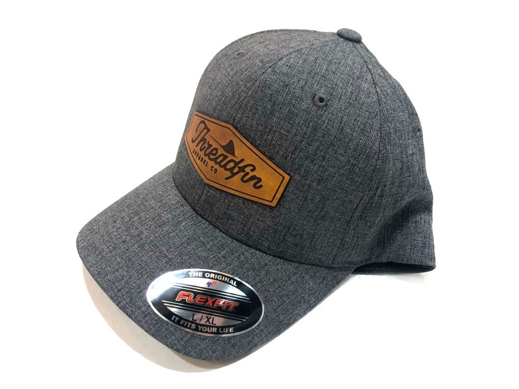 Threadfin Flexfit Leather Patch Hat