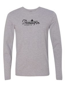 Threadfin Distressed Logo Long Sleeve Tee