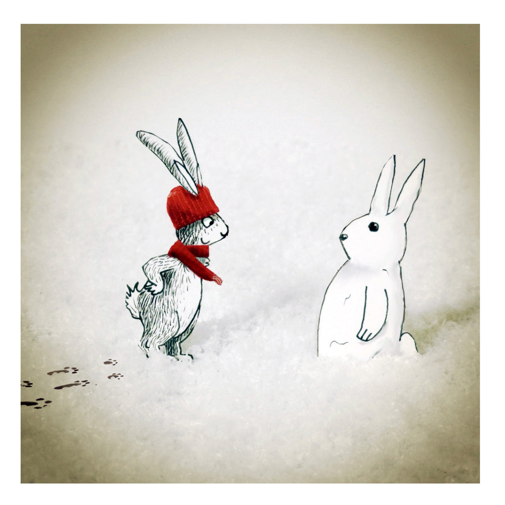 Christmas Rabbit and Snow Rabbit
