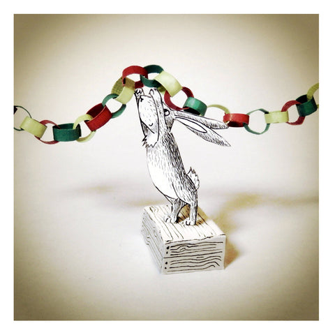 Christmas Rabbit and Paper Chain
