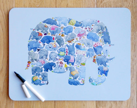 Elephant Maze Table Mat