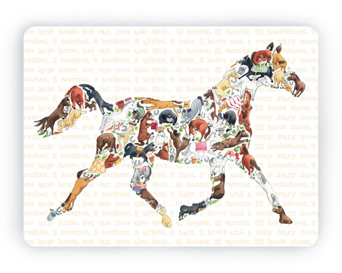 Horse Table Mat