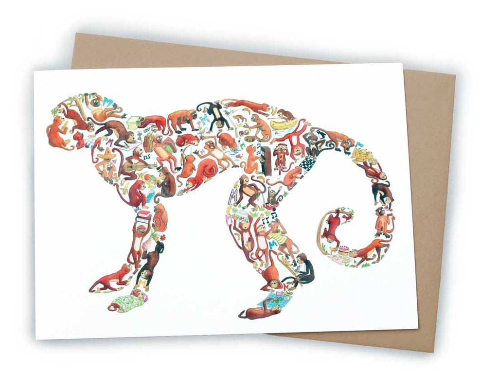 Monkey Greetings Card