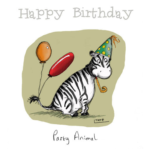 Zebra Party Animal - Happy Birthday