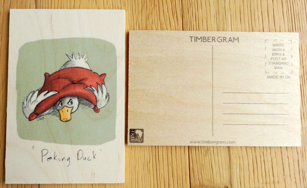 Wooden Postcard - Peking Duck