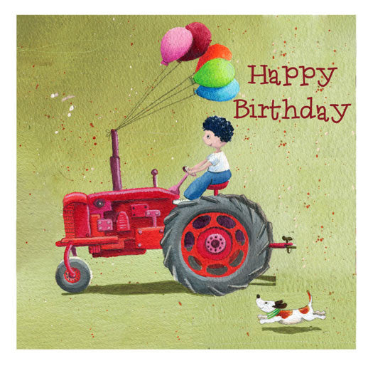 Tractor Happy Birthday Greetings Card Louise Tate
