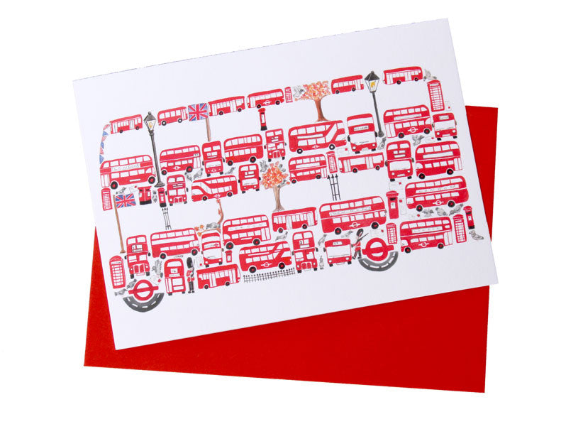 Bus Greetings Card