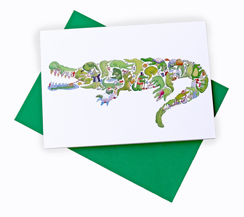 Crocodile Greeting card