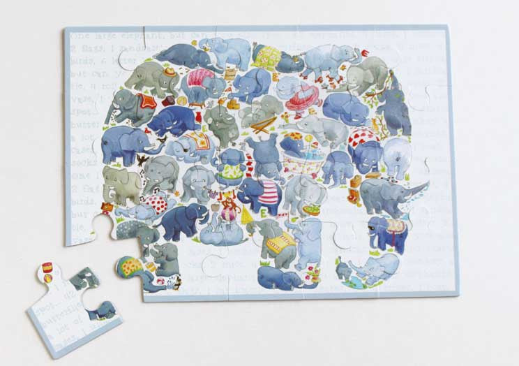 20 piece Elephant jigsaw