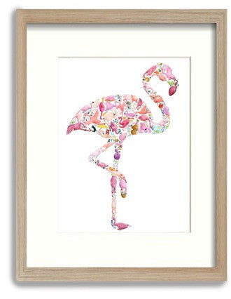 How the flamingo could look in a frame
