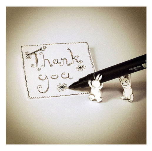 Rabbit and pen - Thank You