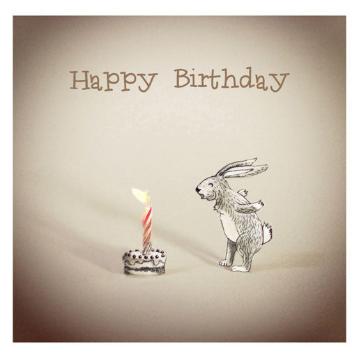 Rabbit and Candle - Happy Birthday