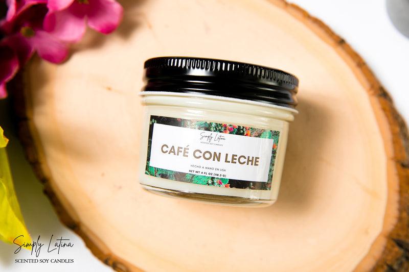 4oz Cafe con Leche Candle