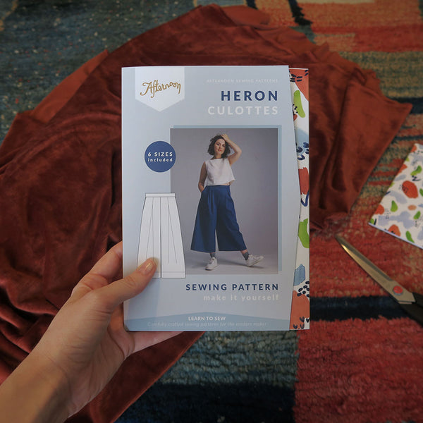 Simple, gathered Heron culottes