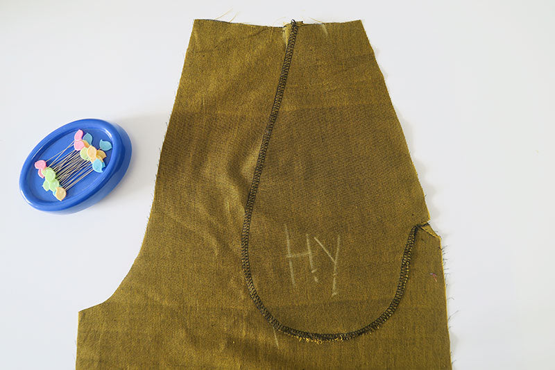 Sew the pocket bags together