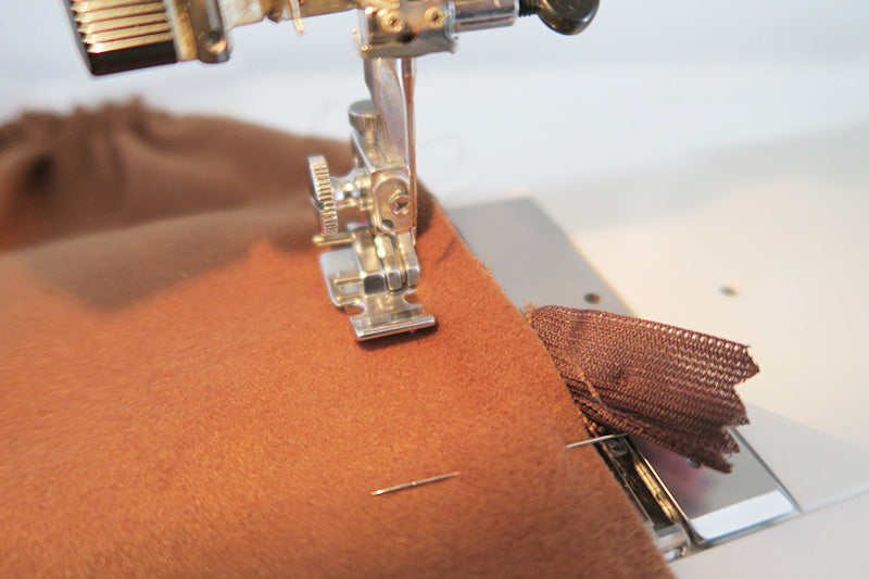 Sew the back seam with a regular zip foot