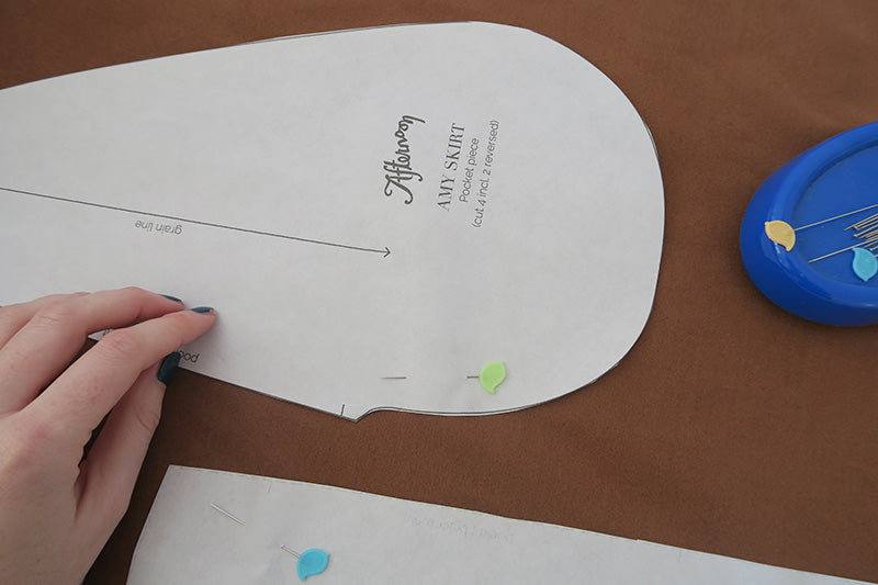 Pin your pattern pieces to the fabric