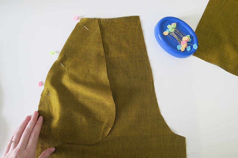 Pin pocket in place