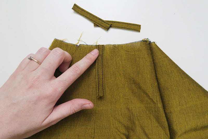 Place loops onto right side of shorts
