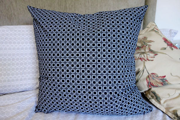 Cushion on bed