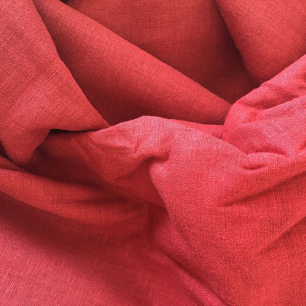 Red dyed linen