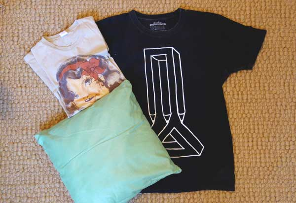 Old tees and a cushion inner