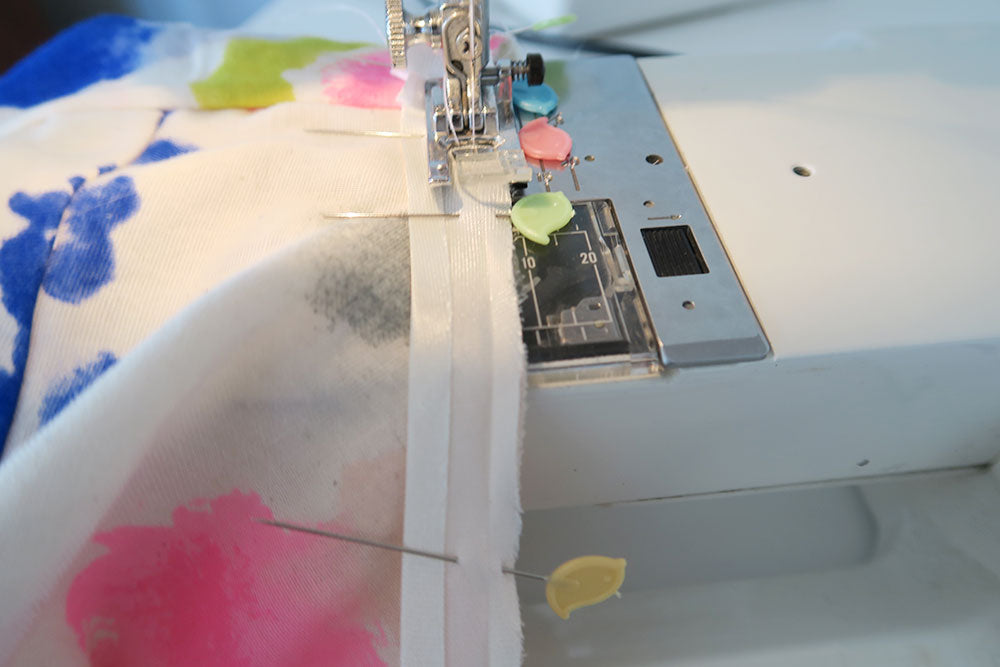 Sew the binding in place
