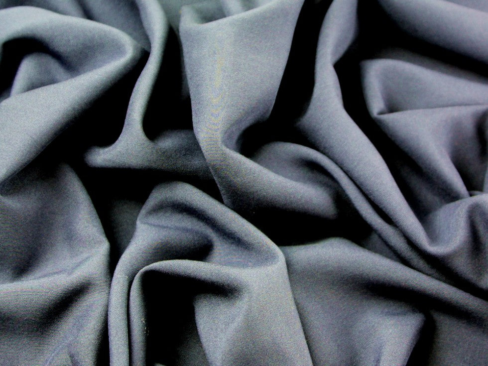 Plain grey viscose