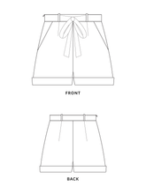 Load image into Gallery viewer, Fern shorts sewing pattern