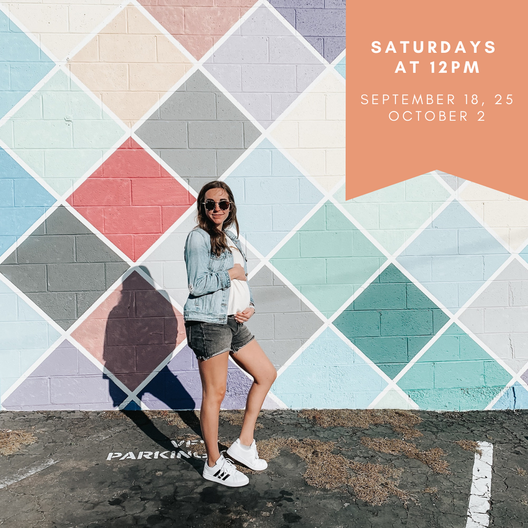 BEFORE BIRTH: Weekend Pregnancy Series - Saturday September 18th, 25th + October 2nd from 12pm-2pm EDT.