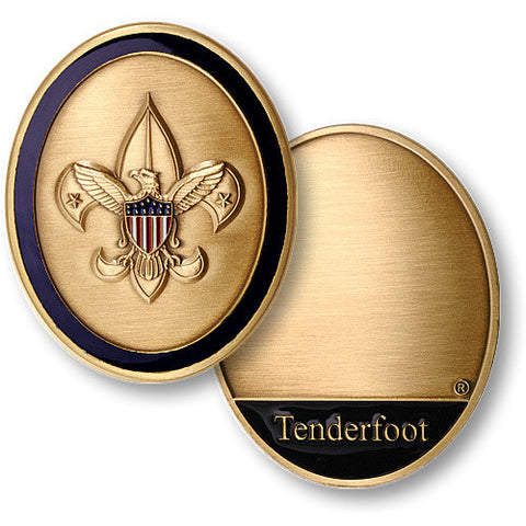 Tenderfoot Scout Challenge Coin