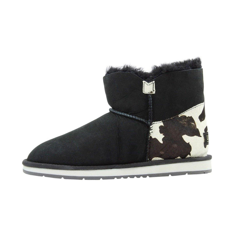 Auzland UGG Boot, Cow Print, Mini Bailey Button