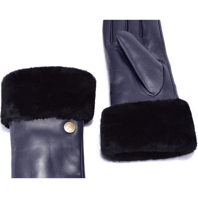 Auzland UGG, Women Classic Leather Gloves, Wool Lining