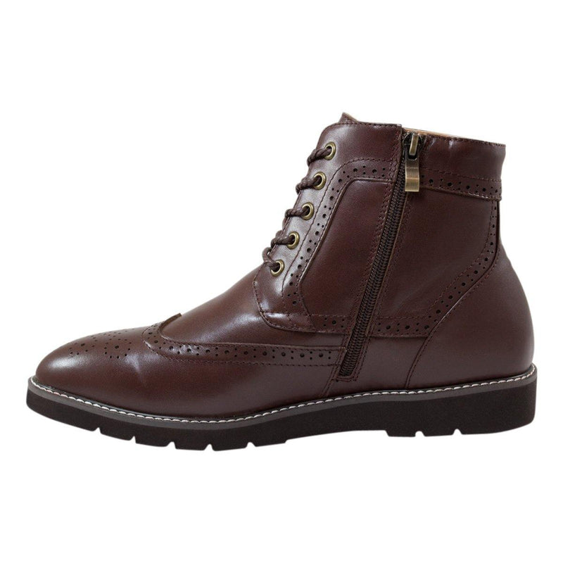 AUZLAND, Men's Leather, Wool Lined Brogue Boot