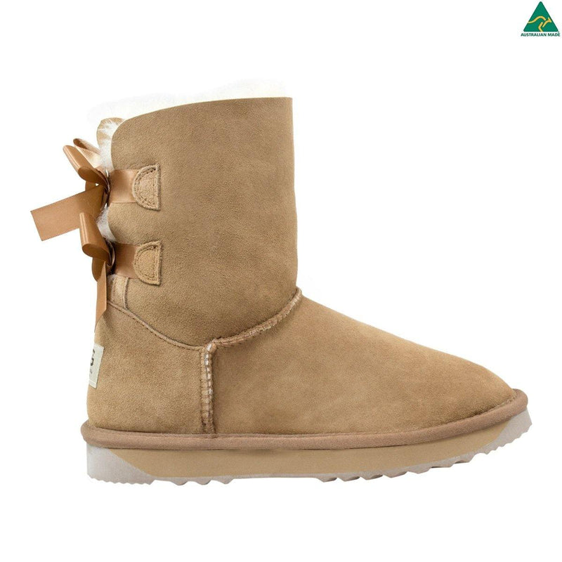Comfort Me, Australian Made, Double Ribbon UGG Boot