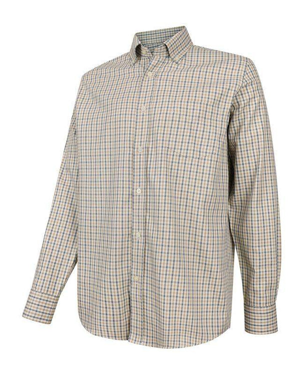 Smårutig Button Down Skjorta - Regular Fit - Jaktstil.se
