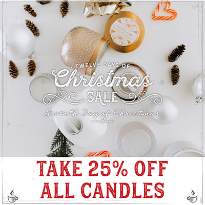 Christmas Cheer Strikes Twice! 25% Off Candles
