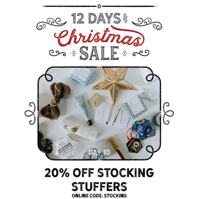 20% Off All Stocking Stuffers! Accessories, Jewlery, Bath Products - You Name it!