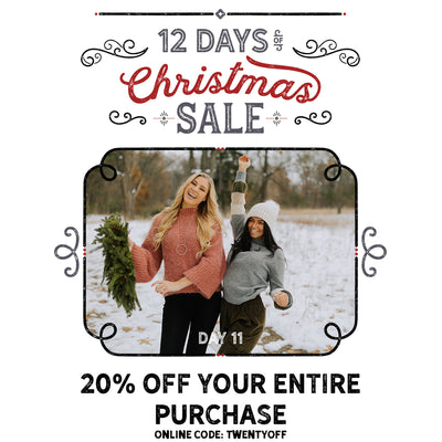 20% Off Your Entire Purchase! 12 Days of Christmas Sale!